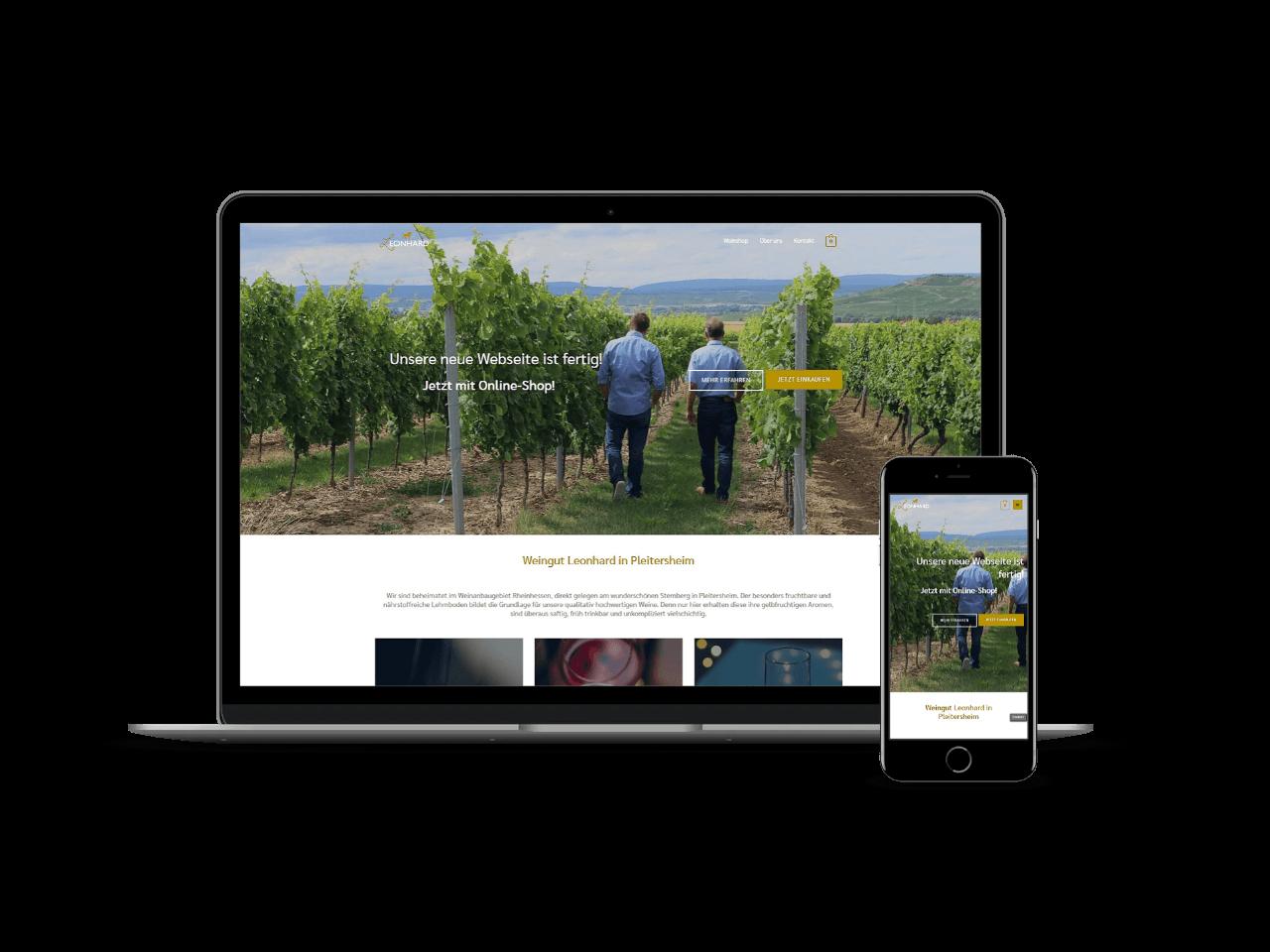 Webseite Weingut Leonhard