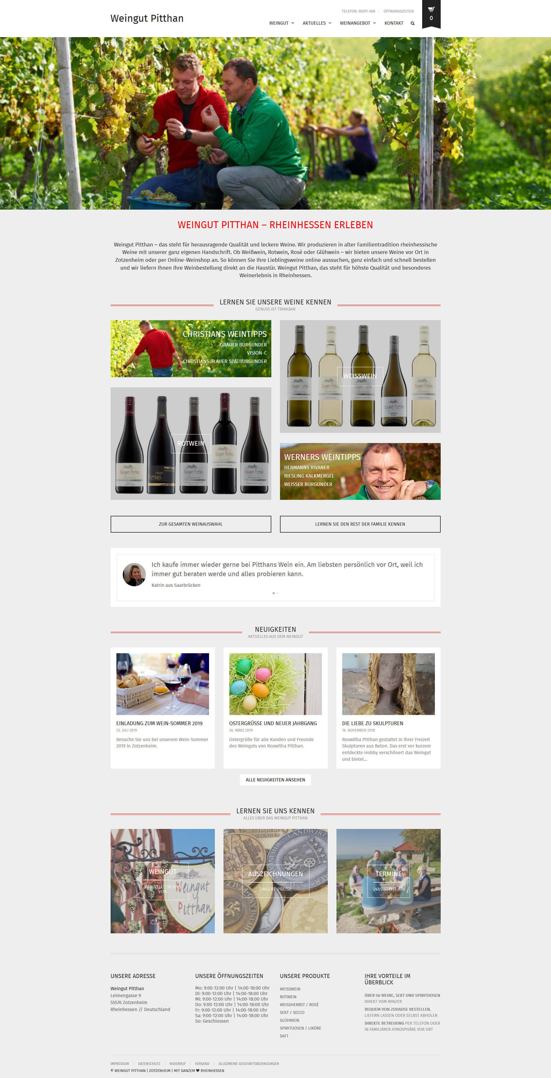 Homepage des Weingut Pitthans - martineich.de